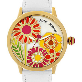 BETSEY JOHNSON - FLOWER FACE WATCH MULTI