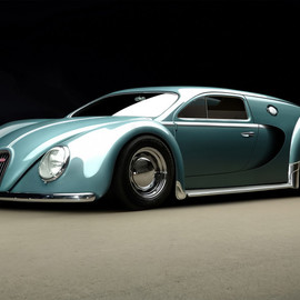 Bugatti - Veyron was designed in 1945