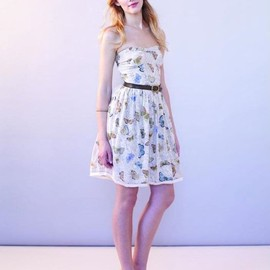project alabama - Butterfly embellished dress
