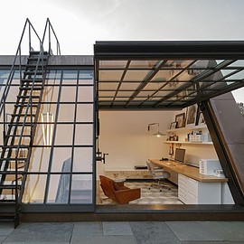 New York - NYC townhouse with new penthouse