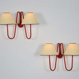 "JEAN ROYÈRE - Pair of ""Bouquet"" wall sconces, ca.1948  Metal 31 x 42 x 23 cm 12.2 x 16.54 x 9.06 inches"