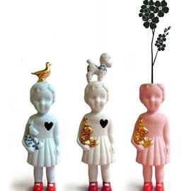 Ceramic dolls by Lammers & Lammers