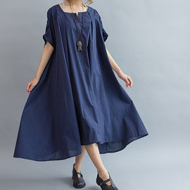 long dress - Loose Maxi Dress/ Cotton Oversize Dress/ Women cloak long dress