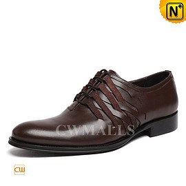 cwmalls - Brown Leather Oxford Shoes CW751155 - cwmalls.com