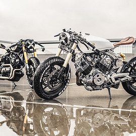 "moose motodesign - ""The Good One"" and ""The Bad One"" Yamaha XV920"