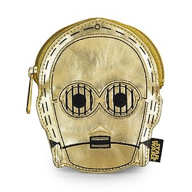 Loungefly - Star Wars: C-3PO Metallic Gold Faux Leather Face Coin Bag
