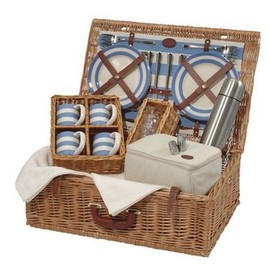 Cornish Blue Basket for 4 available