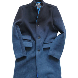 MINOTAUR - DAWN CHESTER COAT[NVY-BLUE/TURQUOISE]