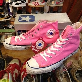 "converse - 「<deadstock>80's converse ALLSTAR HI pink""made in USA"" W/BOX size:US11(29.5cm) 17800yen」完売"