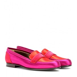 LANVIN - Satin loafers