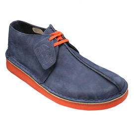 Clarks - Desert trek navy×orange