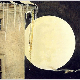 Andrew Wyeth - 'Moon Madness' 1982 tempera paint