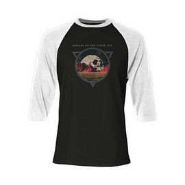 Queens Of The Stone Age - Skull Raglan T Shirt