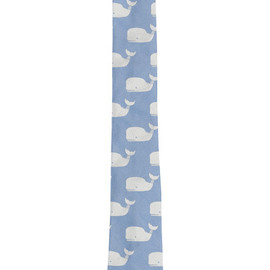 THOM BROWNE - CLASSIC TIE/Blue Silk with White Whales