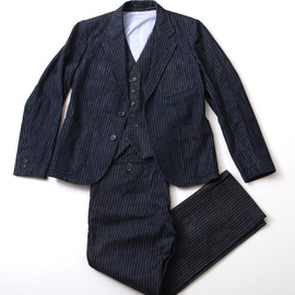 The Stylist Japan - Three Piece Suit (Stripe Denim)