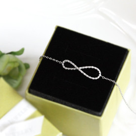 Bridesmaid gifts - Set of 5 - Infinity bracelet with crystal
