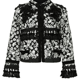 MARC JACOBS - SS2014 Collarless Embroidered Boucle Jacket With Passementerie Trim