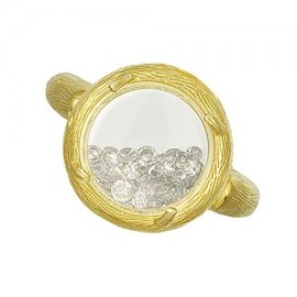 Catherine Weitzman - mini branch glass shaker ring (18k vermeil)