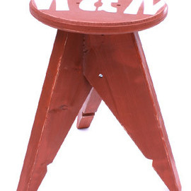 M&M - stool small red
