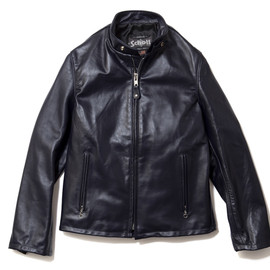 EXPANSION - Image of EXPANSION x Schott Cowhide Casual Racer 654 Jacket