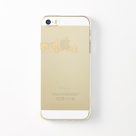 "CEMENT PRODUCE DESIGN, iTattoo - ""carriage of apple "" for iPhone5/5s Champagne gold"