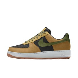 NIKE, Nike By You, Nike Unlocked By You - Air Force 1 Low Unlocked By You - Honeycomb/Black/Thermal Green/Gum Medium Brown