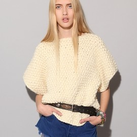 Chunky square knit top