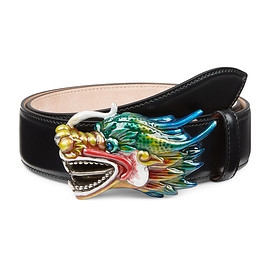 GUCCI - SS2017 Leather Belt with Dragon Buckle