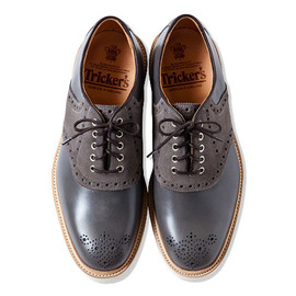 CASH CA - x Trickers SADDLE SHOES [GREY]