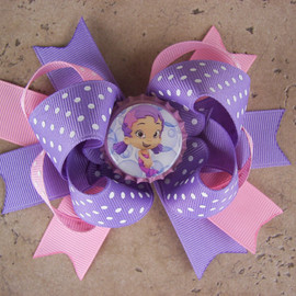 Luulla - Bubble Guppies Inspired Hair Bow - Can Be Any Character from the Show