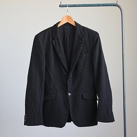 COMME des GARCONS HOMME - ESTER CLOTH RAISING TAILORED JACKET #black