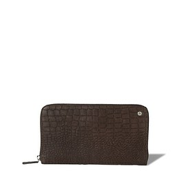 ORCIaNI - Orciani CAYMAN CROCO-EMBOSSED LEATHER WALLET
