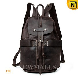 CWMALLS - CWMALLS® Leather Flap Travel Backpack CW915236