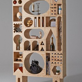 Kyuhyung Cho and Erik Olovsson - Tall Shelving Unit Composed of ROOM Collection Shape Blocks