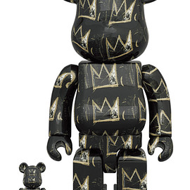 MEDICOM TOY - BE@RBRICK JEAN-MICHEL BASQUIAT #8 100% & 400%