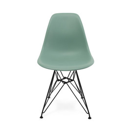 Herman Miller - Eames Shell Side Chair DSR (Sea foam Green, Black)