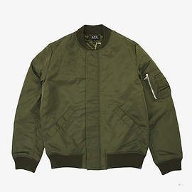 A.P.C. HOMME - BOMBERS RUDY  KHAKI