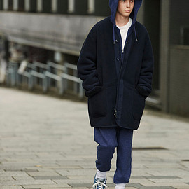UNIQLO and Engineered Garments - Fleece Collarless Coat