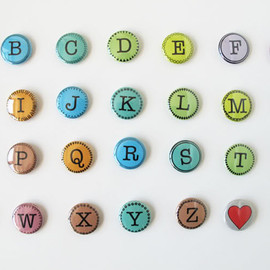 MAPTOTE - Alphabet Buttons
