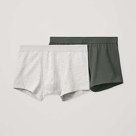 Cos - 2-pack jersey boxer briefs in green