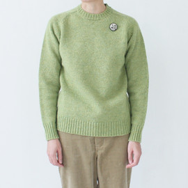 Charpentier de Vaisseau - Shetland Wool Crew Neck / Light Green