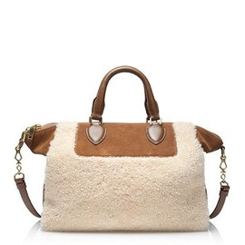 J.CREW - suede and shearling satchel