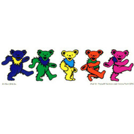 Five Dancing Bears Vinyl Sticker Classic dancing bears Why a Grateful Dead Bear The dancing bears symbolized t