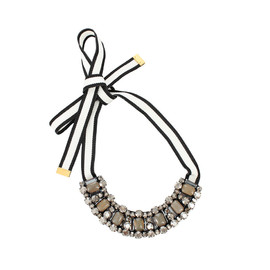 MARNI - Ribbon Necklace With Stones
