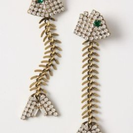 Anthropologie - Fishbone Earrings