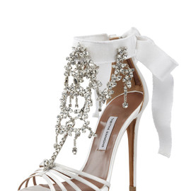 TABITHA SIMMONS - Chandelier Crystal Sandal with Back Bow