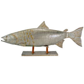 Atlantic Salmon Life-Sized Galvanized Steel Fishmonger's Sign