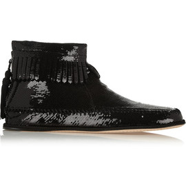 MARC JACOBS - Sequined leather ankle boots