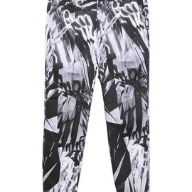 Paul Smith - ABSTRACT PRINT ANKLE CUT PANTS