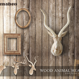 amabro - WOOD ANIMAL HEAD
